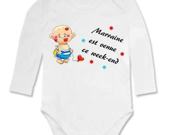 Bodysuit humor godmother came