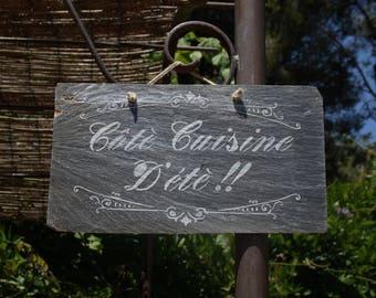 """Slate """"Side summer kitchen"""" hanging"""
