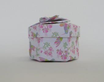 "Box hexagonal ""Hummingbird"""