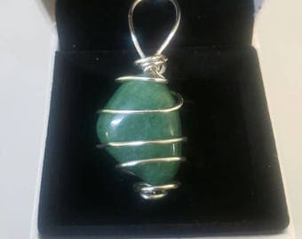 Wrapped Jade Necklace Gemstone