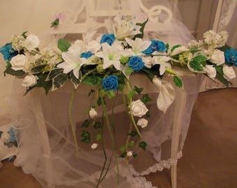 various blancceremonie and honour floral turquoise wedding centerpiece