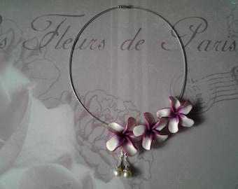 tiare flower Choker necklace
