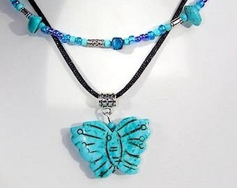 """Necklace features (2 necklaces in 1) bi Native American inspired """"The treasure of the Incas"""""""