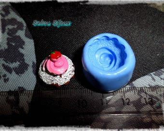 Cake mold delicious whipped Cherry for fimo 1.7 cm
