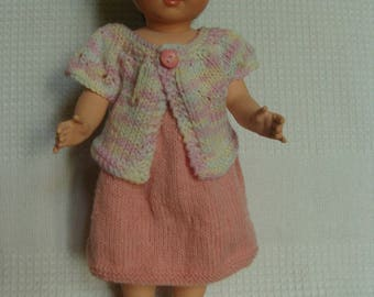 Dress and vest for doll Mary, patterns and work, doll 40 cm.