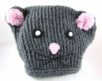 "Child hat ""Lucky, my little"" mouse ""- 48/50 cm head circumference - unisex"