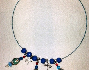Turquoise necklace and Red (small strawberries)