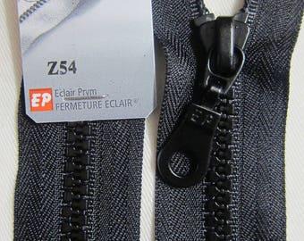 Black 60 cm separable zipper closure