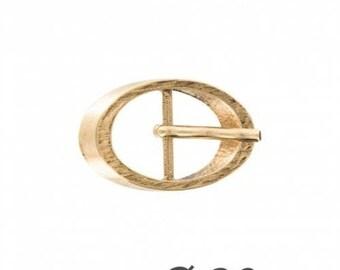 Boucle ceinture ovale dorée