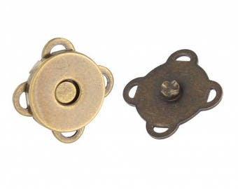 Magnetic buttons to sew for 14 mm bronze