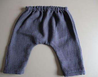 Harem pants for baby girl / boy cotton Navy Blue