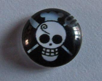 Cabochon Glass 12mm Theme Skull