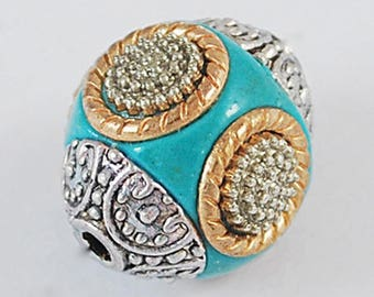 Turquoise Indonesian bead 1