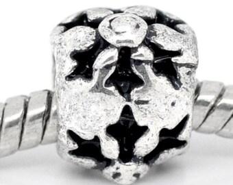 9 beads spacer European silver