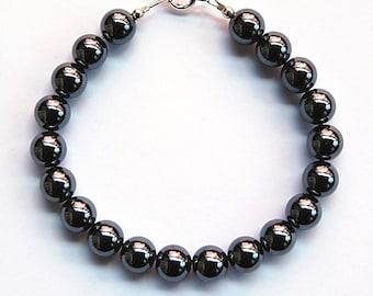 Bracelet hematite beads 10mm