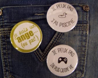 Set of 3 badges / humor