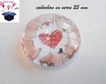 1 cabochon clear 25 mm school theme