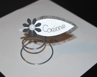 Original black and white wedding place card