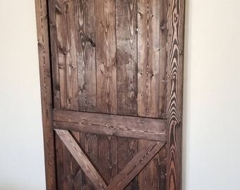 Rustic Barn Door, Farmhouse Barn Door, Sliding Barn Door, Interior Barn Door, Sliding Wooden Door