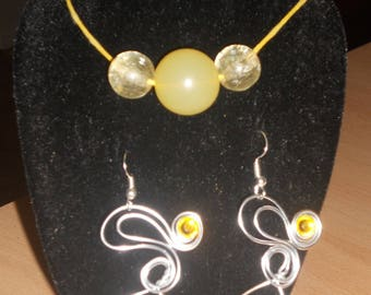 Pretty set two pieces of 1 mm and shinny silver aluminium wire.