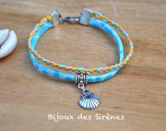 Liberty style sea shell bracelet