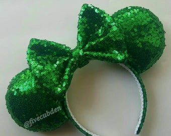 Emerald green mouse ears