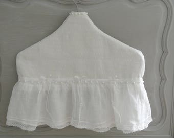 linen and antique lace hanger cover