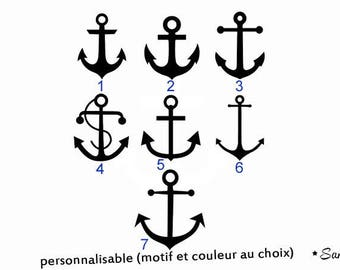 personalized boat anchor applique Thermo flex