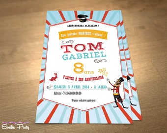 Customizable printable themed birthday invitation: Magic!