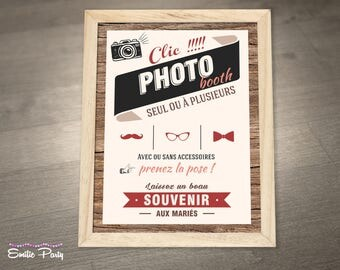 Photobooth decoration: poster print.