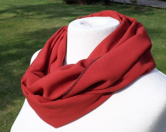 Snood scarf neck scarf woman rust