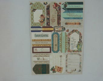 "Sheet of labels Scriptures ""Christmas Victorian"""