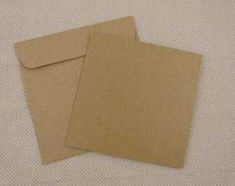 card and Kraft envelope
