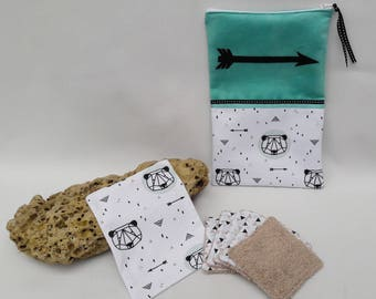 """Little bear"" diaper pouch and its 6 wipes."