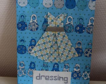 """Table dress origami - message """"dressing"""" - 24 x 18 cm"""