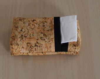 Pocket tissue case - washable - Cork effect