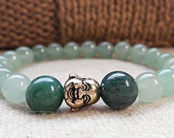 aventurine bracelet green stone bracelet jade jewelry buddha bracelet womens beaded bracelet stretch gemstone bracelet for women 8 mm