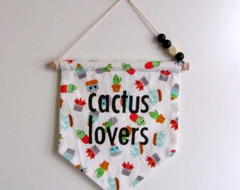 "TO order wall hanging banner ""cactus lovers"""