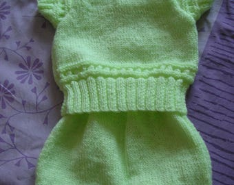 Green set two pieces 1-3 months baby