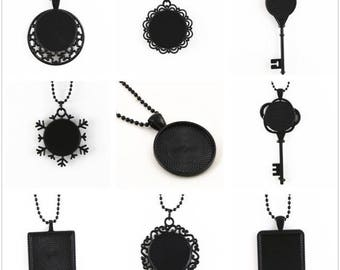 9 necklaces 70 cm black within 15 days