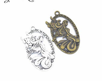 1 charm pendant Angel 47 x 27 mm within 15 days
