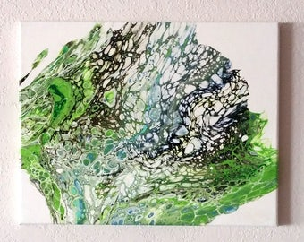 Celebration Abstract Acrylic Painting 11 x 14 Canvas
