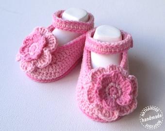 Chaussons bébé ballerines roses 0/3 mois