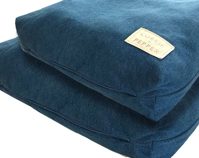 Featured listing image: Corkie and Pepper Denim Pet Bed