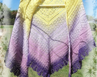 The colors of spring - unique shawl