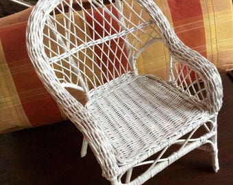 Vintage Small Doll's Wicker Chair