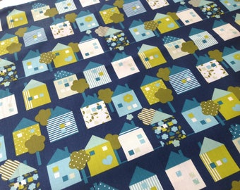 100% cotton fabric print houses