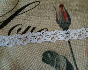 """1 meter of """"lace Ribbon"""" 22 mm / white"""