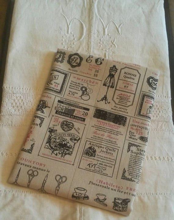 coupon de tissu vintage esprit haute couture 45