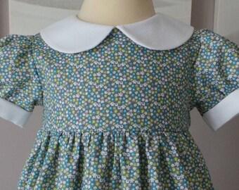 6 months cotton flower print dress